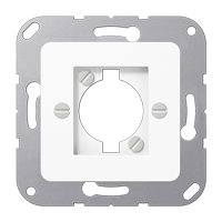 Centre plate for loudspeaker socket (Speakon) and chassis connector