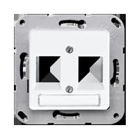 Centre plate for modular jack sockets 6WE, UMA-CAT6A, 2-gang