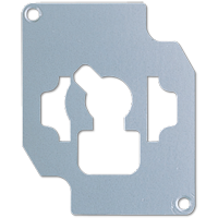 Locking plate for key switch