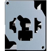 Verriegelungsplatte für Schlüsselschalter