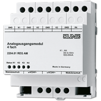 Analogue actuator module, 4-gang
