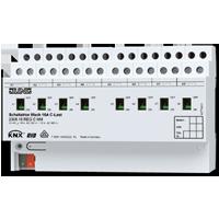 Schaltaktor 8fach C-Last mit Stromerkennung und mech. Handbetätigung, AC 110-230 V~