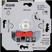 jung rotary dimmers light management overview. Black Bedroom Furniture Sets. Home Design Ideas