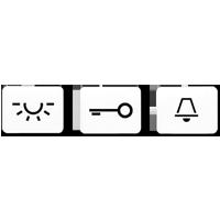 Kalotte mit Symbol, lichtundurchlässig