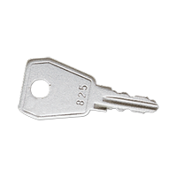 Spare key for all hinged lids with safety lock
