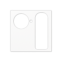 Abdeckung für VarioLine – Ruftaster für Patientenruf und Universalsteckvorrichtung