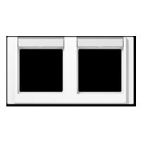 Cadre avec porte-étiquette pour montage horizontal