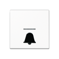 """Wippe mit abtastbarem Symbol """"Klingel"""" und Lichtleiter"""