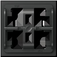 Halteplatte für 3fach-Wippe