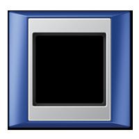 Frame, blue-aluminium