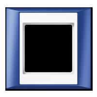 Rahmen, blau-alpinweiß
