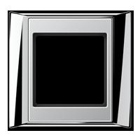Rahmen, glanzchrom-aluminium
