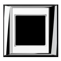 Rahmen, glanzchrom-alpinweiß