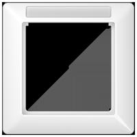 Placca con finestra per supporto targhetta, 1 modulo