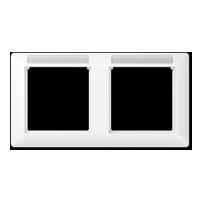 Rahmen mit Fenster für Beschriftungsfeldträger