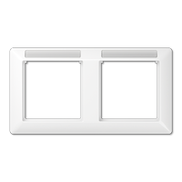Afdekraam met venster voor tekstvensterhouder