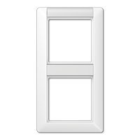 Afdekraam met tekstvenster voor verticale montage