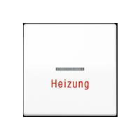 """Wippe mit Lichtleiter und Aufschrift """"Heizung"""""""