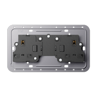 2-gang socket insert, 13 A