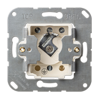 Key switch insert with protection against dismounting, IP 44