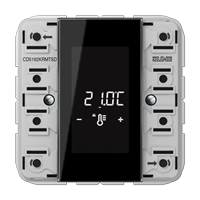 Room controller display compact module 2-gang