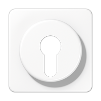 Abdeckung für Schlüsselschalter mit Demontageschutz