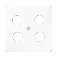 Centre plate for 4-hole SAT-TV socket (Hirschmann)
