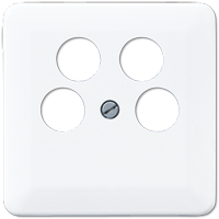 Centre plate for 4-hole SAT-TV socket (Ankaro)