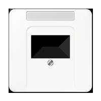 Abdeckung mit Schriftfeld für TAE-/ Lautsprecher-Anschlussdose
