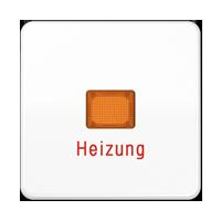 """Wippe mit Lichtaustrittsfenster und Aufschrift """"Heizung"""""""