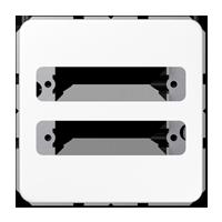 Abdeckung für 2 D-Subminiatur-Steckverbinder