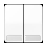 Wippe für Serienschalter und Doppeltaster, mit Schriftfeld