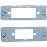 Mounting plate for D-subminiature sockets