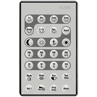 IR remote control (for electrician) for motion and presence detector