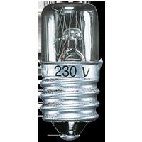 Incandescent lamp for pilot light
