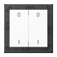 EnOcean radio transmitter with symbols 0 I