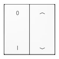 EnOcean Funk-Wandsender mit Symbolen 0 I und ▲▼