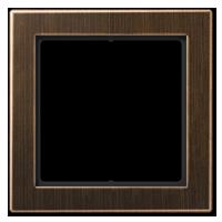 Placca, ottone anticato