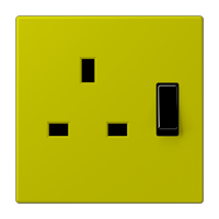 Centre plate for socket BS 2171 EINS, 3171 EINS