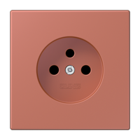 Centre plate for socket, French/ Belgian system