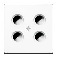 Abdeckung für 4-Loch-SAT-TV-Steckdose (Hirschmann)