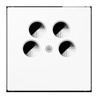 Abdeckung für 4-Loch-SAT-TV-Steckdose (Ankaro)