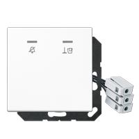 Hotel centre plate with LED unit 24 V, corridor unit