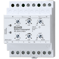 System control unit for rail mounting, 2-channel