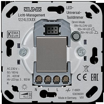 Favorit JUNG - LED-Universal-Tastdimmer Tastdimmer, Schalteinsätze Licht FE25