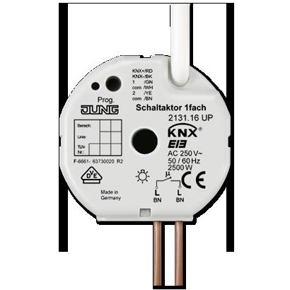 JUNG - Schaltaktor 1fach 16 A Aktoren UP / Einbau Geräte UP / AP KNX ...