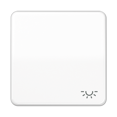 Jung CD 590LWW Wippe mit  Lichtsymbol alpinweiß