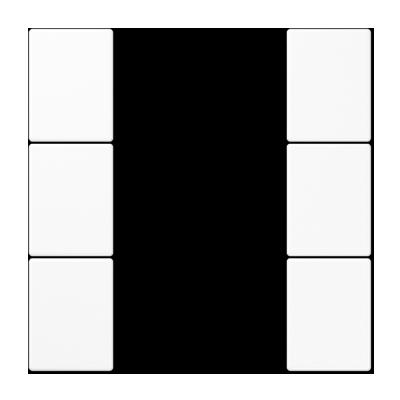 Jung knx Juego teclas f50 knx 4 fases serie ls blanco alpino
